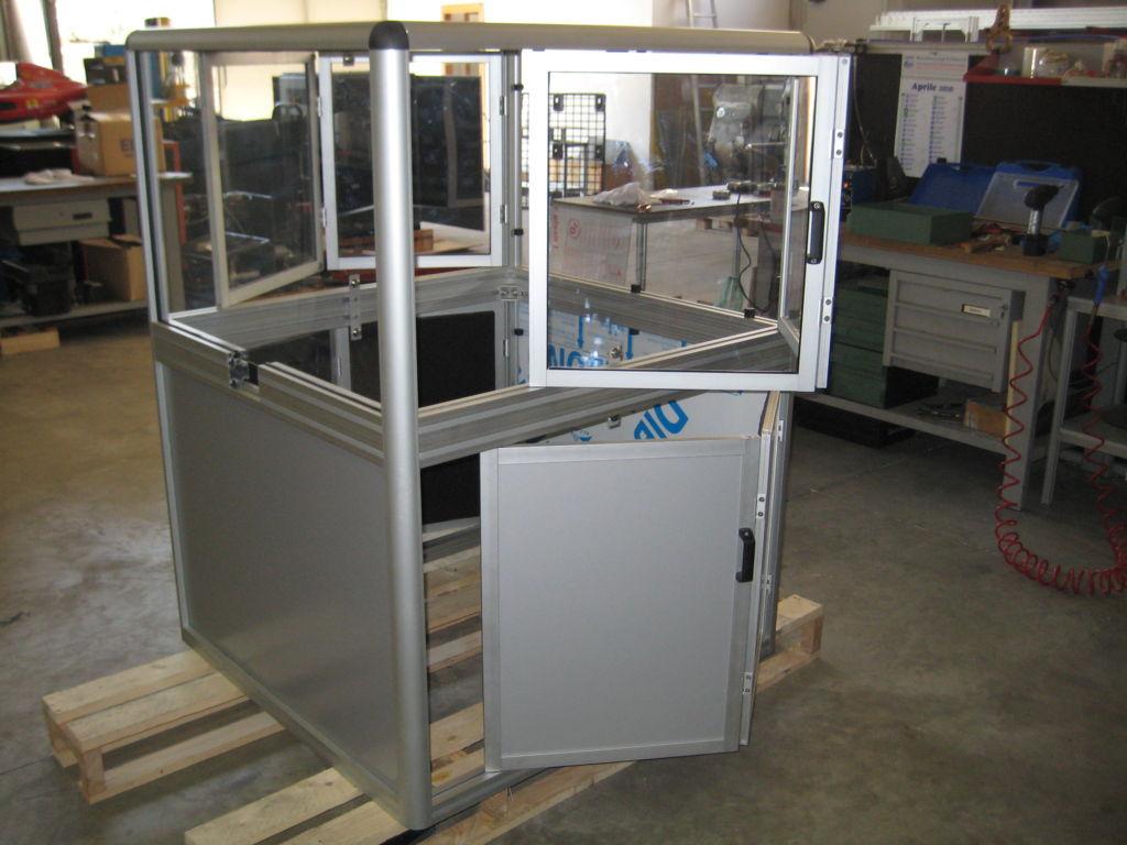 protezione antinfortunistica in alluminio